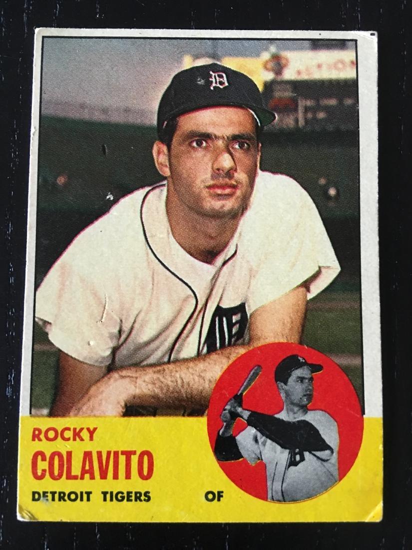 1963 Topps Baseball Card Rocky Colavito 240 Apr 07 2019