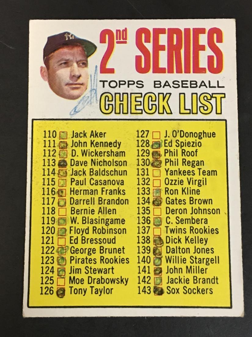1967 Topps Baseball Checklist Card 103 Apr 07 2019