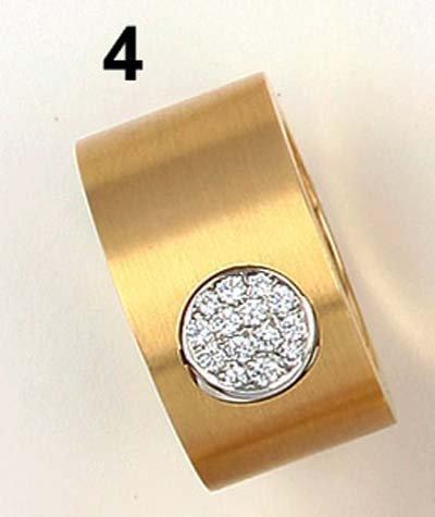 4: Ring GG 750/000, Mittelteil Platin 950/000 mit Brill
