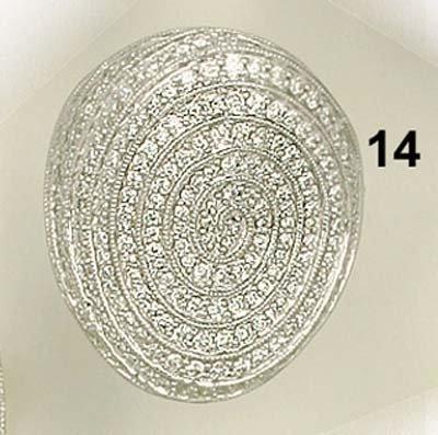 14: Ring, WG 750/000, Brillanten gefaßt im Schneckendes