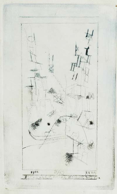 1680: Paul Klee 1879-1940, hier: Abstrakte Darstellung,