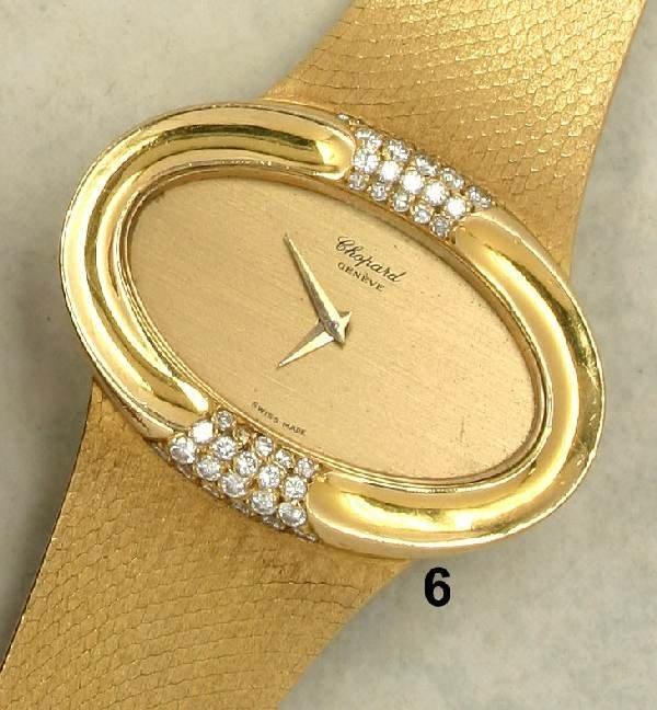 6: Damenarmbanduhr ''Chopard'', GG 750/000, z.Teil mit