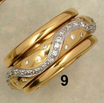 9: Ring GG/WG 750/000, drehbarer Mittelring mit Brillan