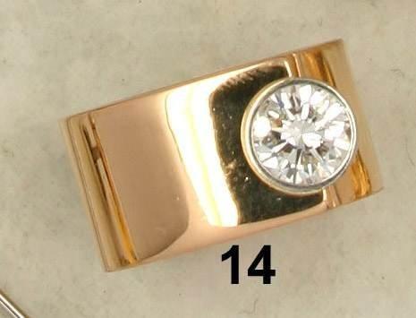 14: Ring ''Niessing'' RG 750/000, Solitär 1,03 ct. w/si