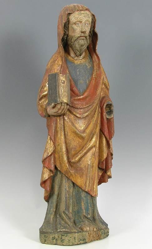 4160: Barocke Heiligenfigur des 18. Jh., Holz geschnitz
