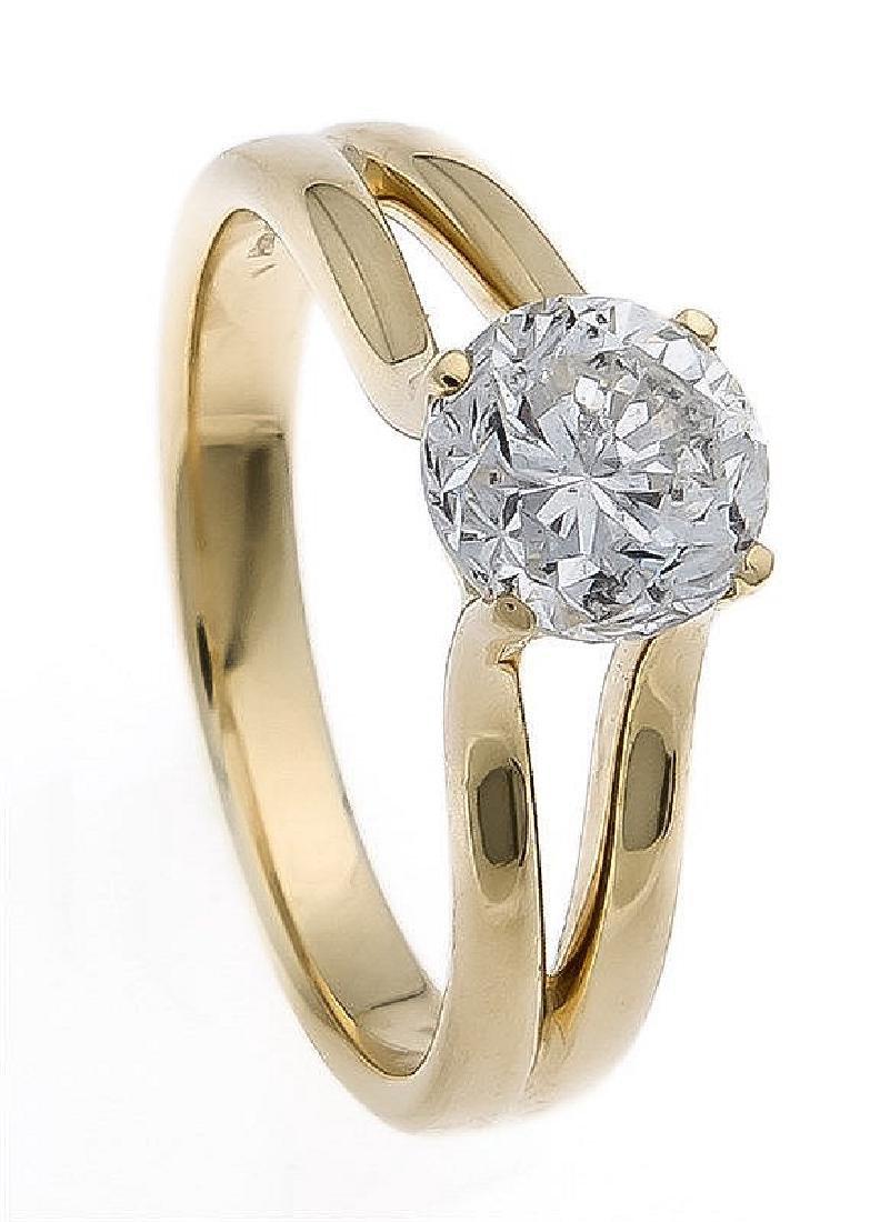 Brillant-Ring GG 750/000 mit einem Brillanten 1, 60 ct
