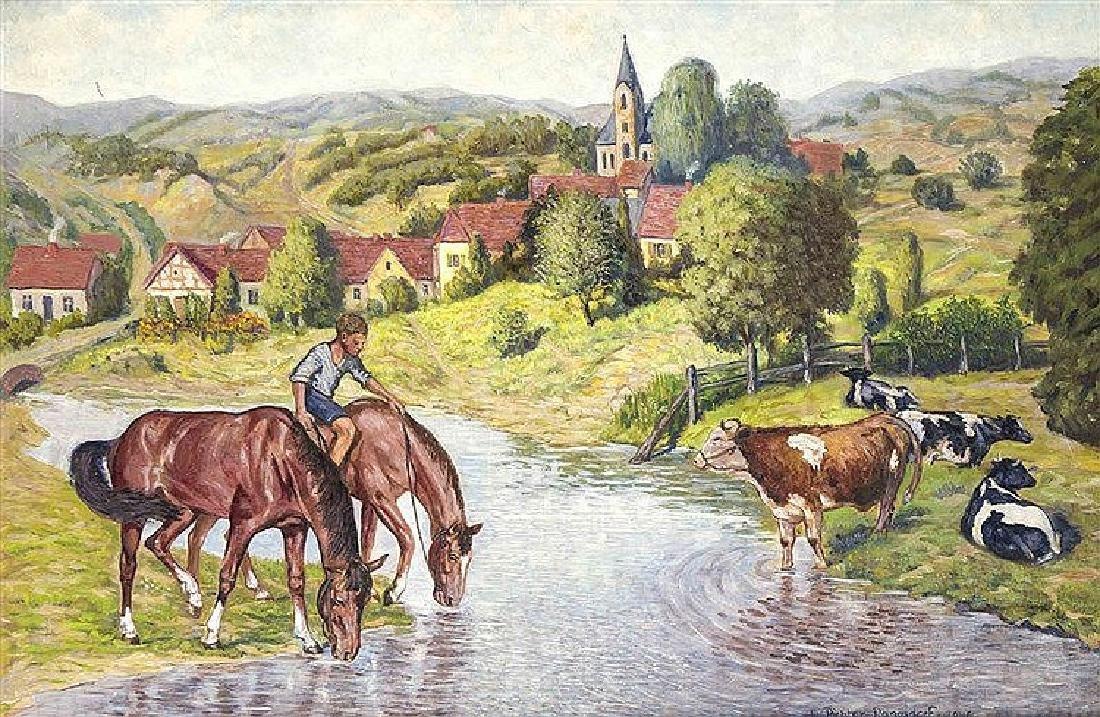 Fw. Richter-Rangsdorf, Heimatmaler 1. H. 20. Jh.,