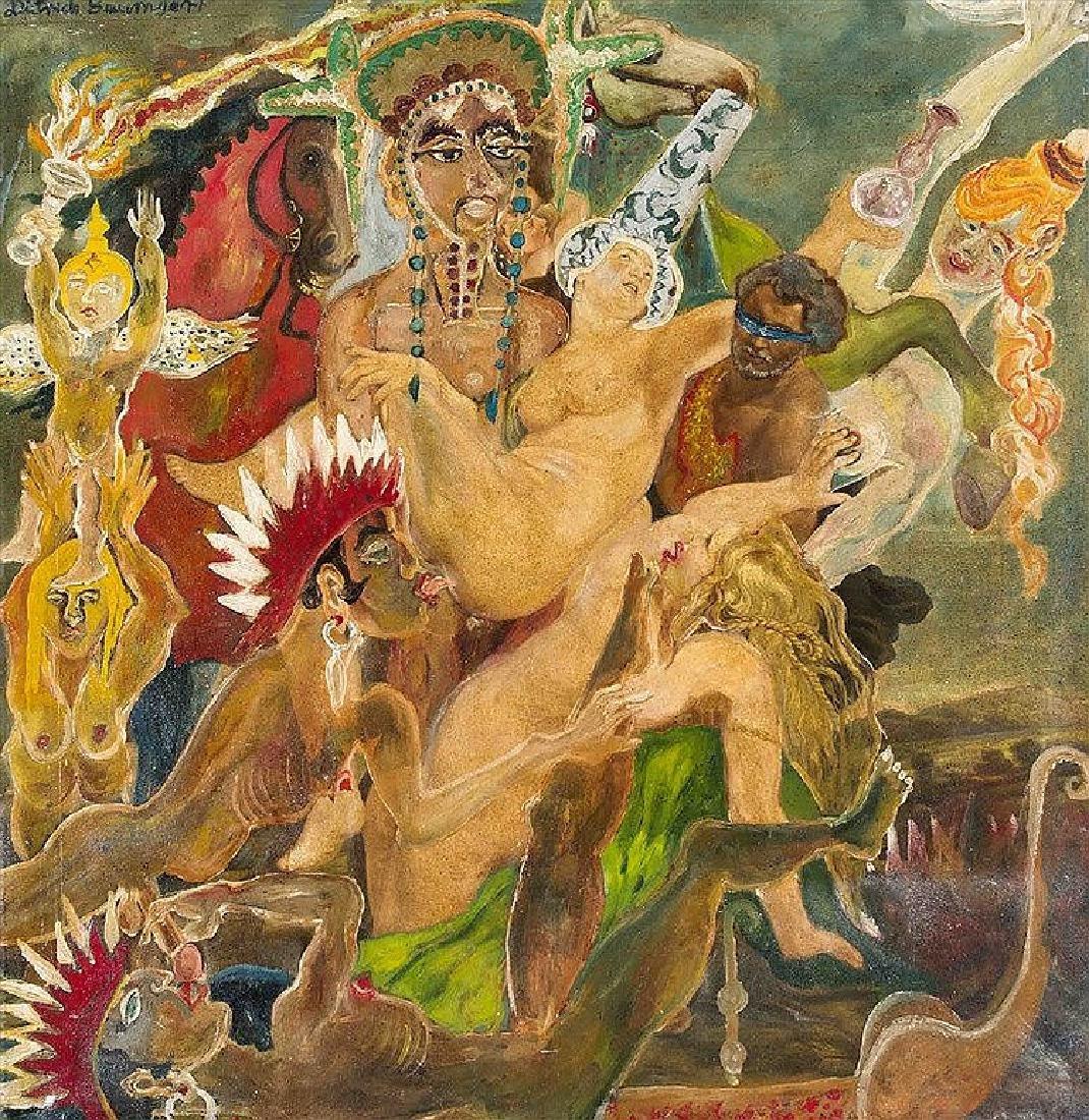 Dietrich Baumgart, Ende 20. Jh., erotisch-surreale