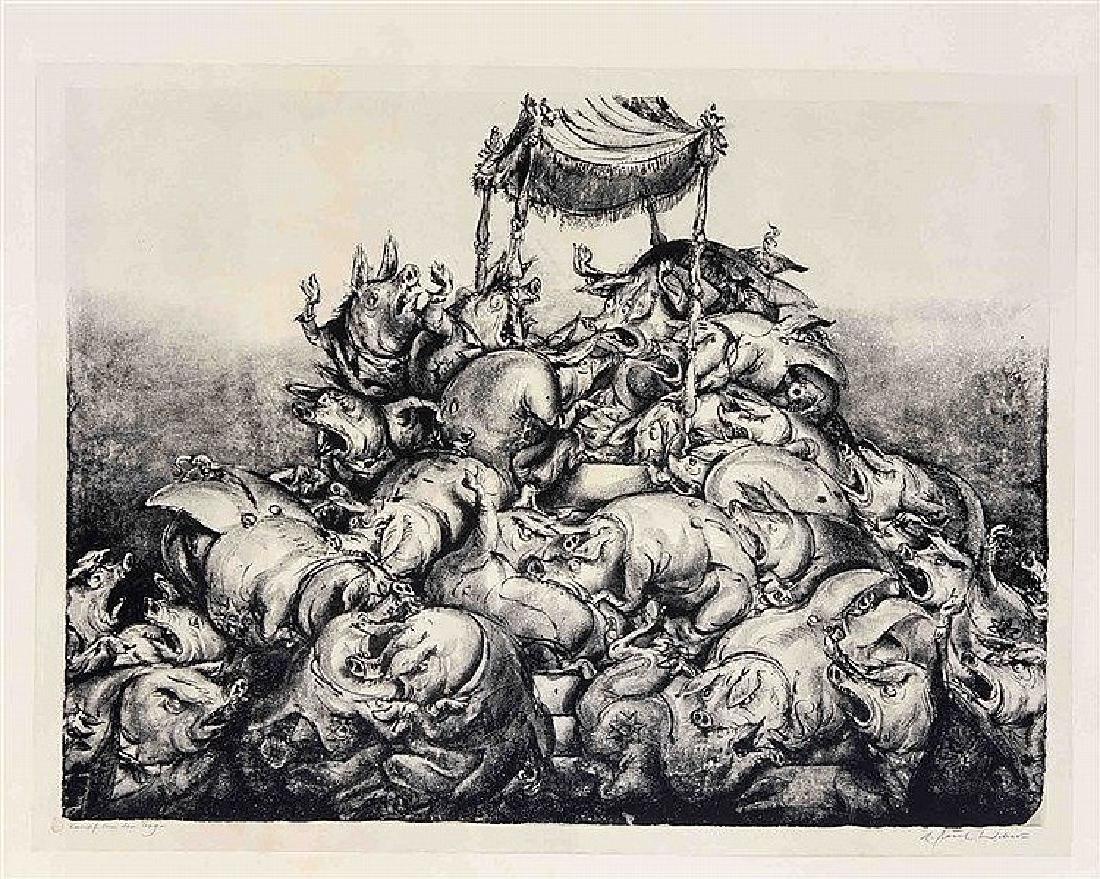 A. Paul Weber (1893-1980), ''Kampf um den Tag'',
