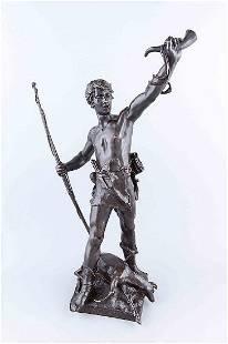 Eugène Marioton (1854-1922), ''Hallali'', Bronze,
