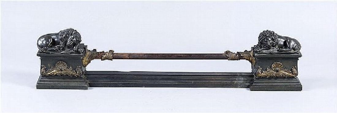 Klassizistischer Kaminvorbau, 1. H. 19. Jh., Bronze,