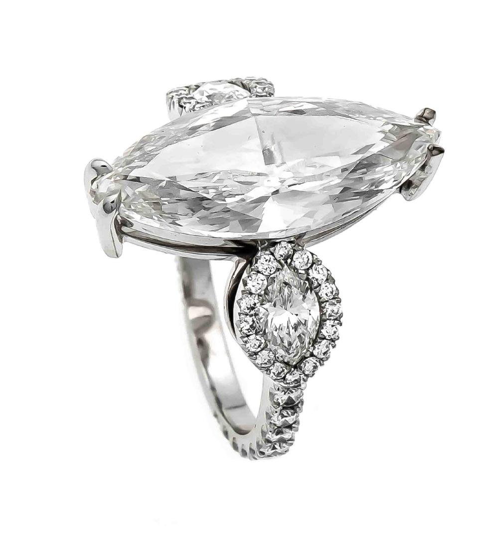 Brillant-Ring WG 750/000 mit einem Diamanten im