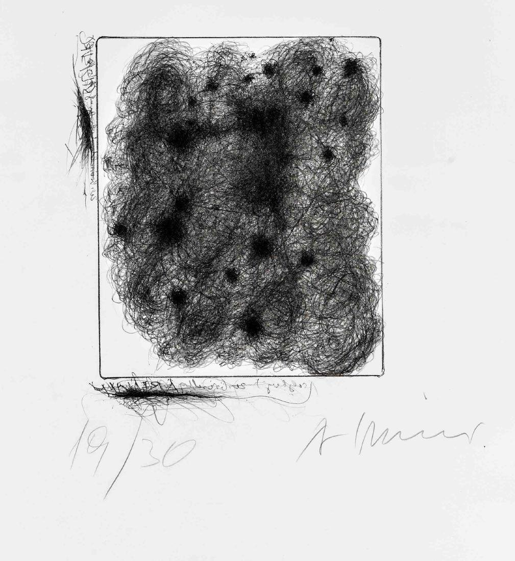 Arnulf Rainer (*1929), Für H.C. Artmann, Lithografie