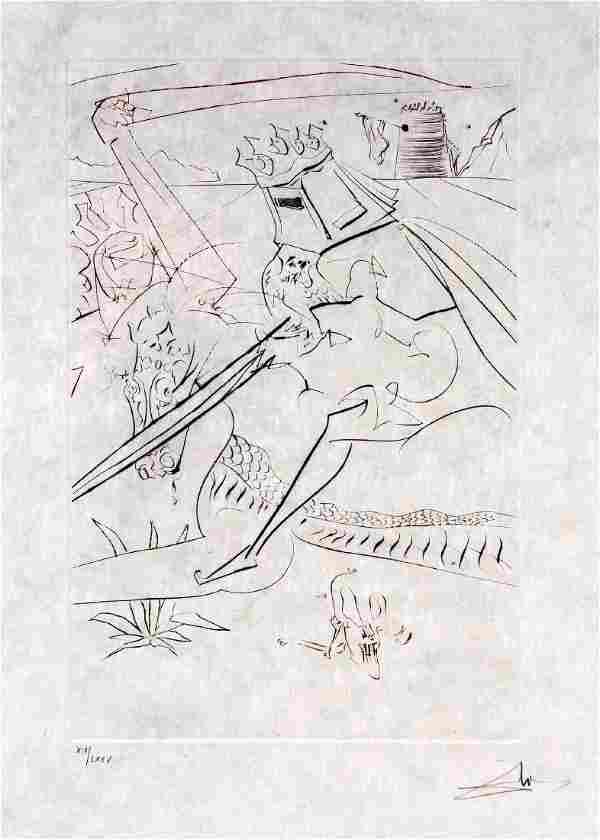 Salvador Dalí (1904-1989), Le Chevalier noir, Quête du