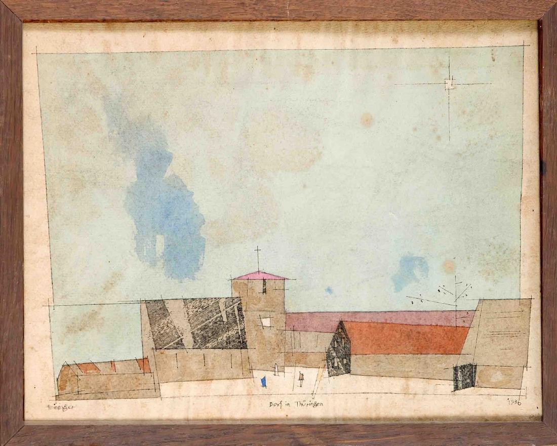 """Lyonel Feininger (1871-1956), """"Dorf in Thüringen"""","""