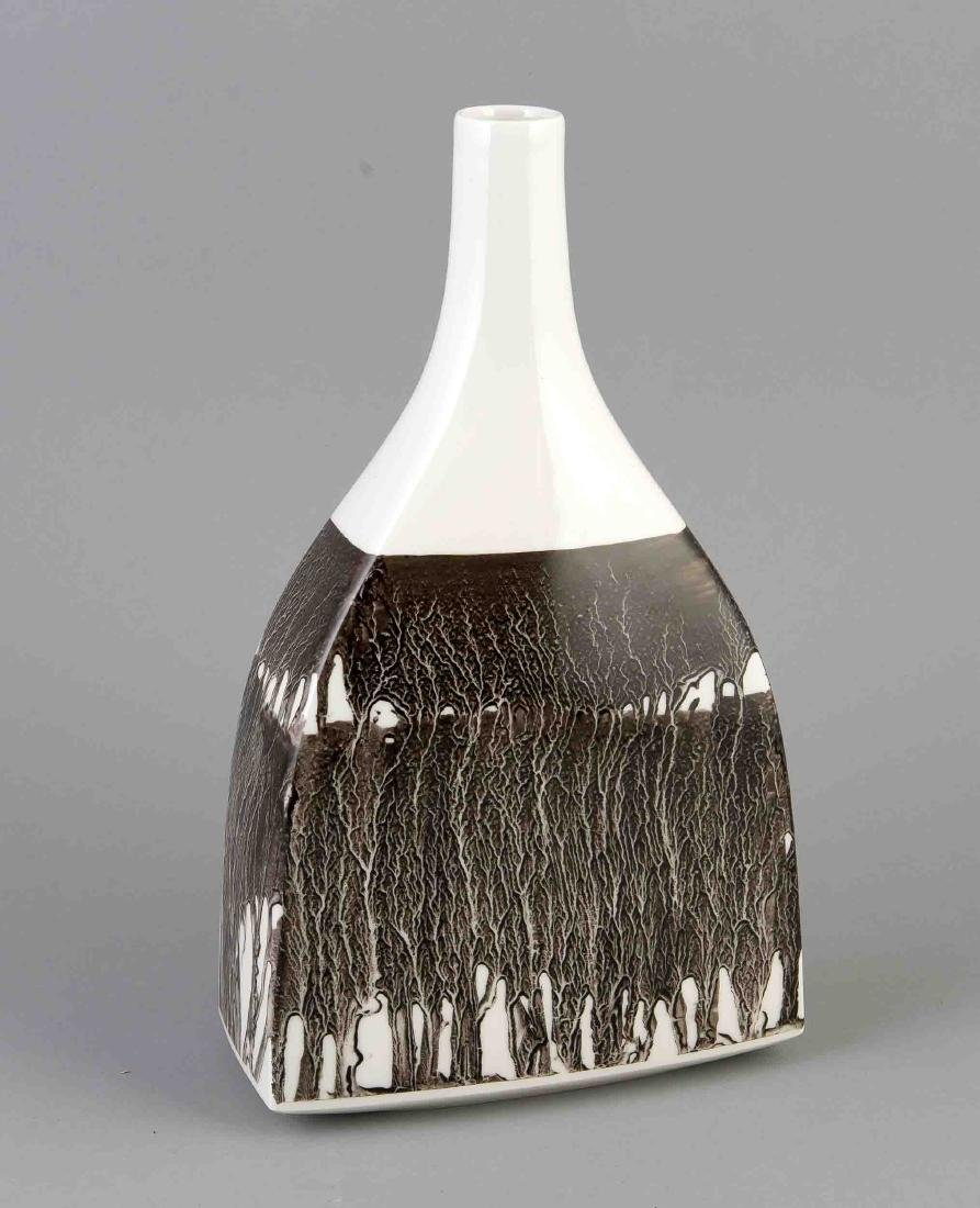 Vase, KPM Berlin, Mark 1945-62, 1st quality, painters