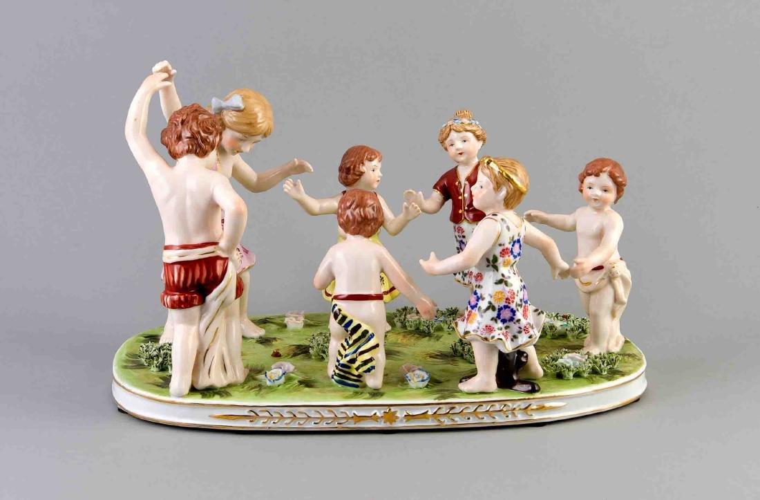 Figurine group, Neundorf, german, late 20th century,