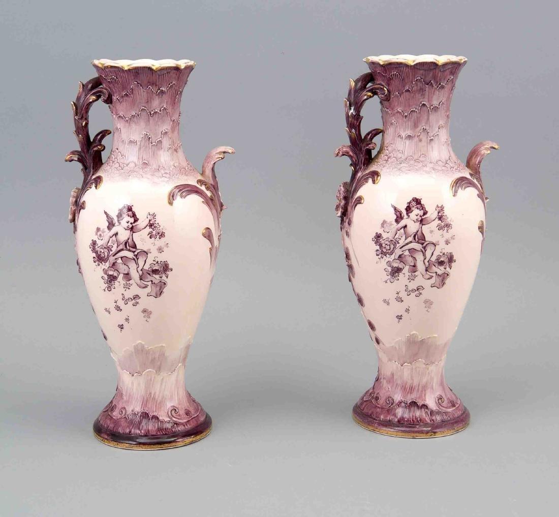 Pair of art nouveau vases, Villeroy & Boch, Mettlach,
