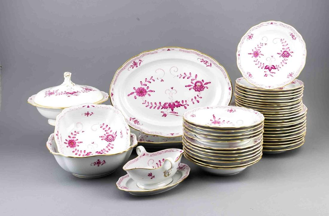 Dinner Set for 12 persons, 43 pcs., Meissen, mark after