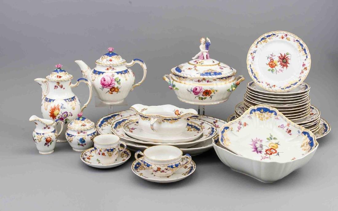 Tableware for 6 persons, 53 pcs., KPM Berlin, blue
