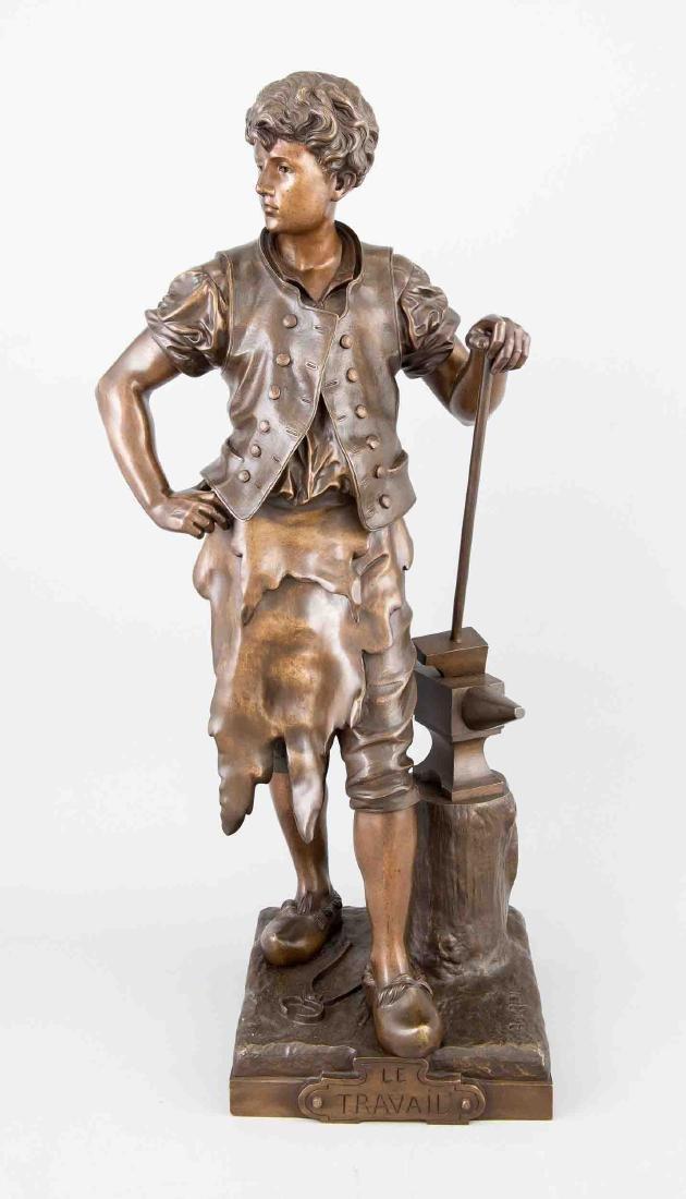 Eutrope Bouret (1833-1906), ''Le Travail'', bronze,