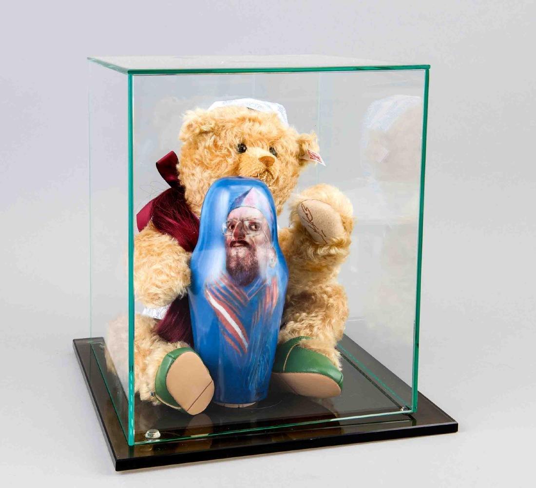 """Steiff-Teddy """"Schatzi"""", gestaltet von Ernst Fuchs,"""