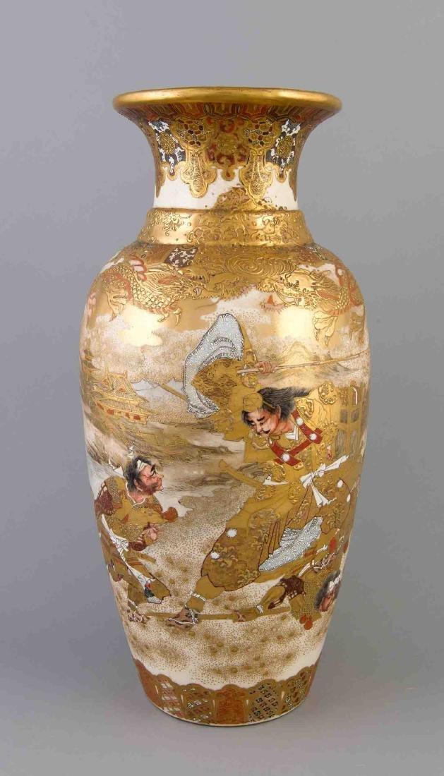 Satsuma Vase, Japan, Meiji Periode (1868-1912), Keramik