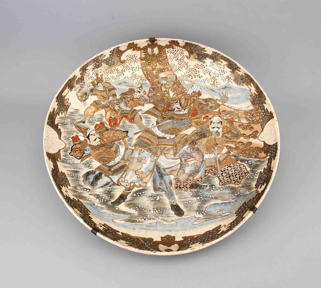 Große Satsuma Schale, Japan, späte Meiji-Periode