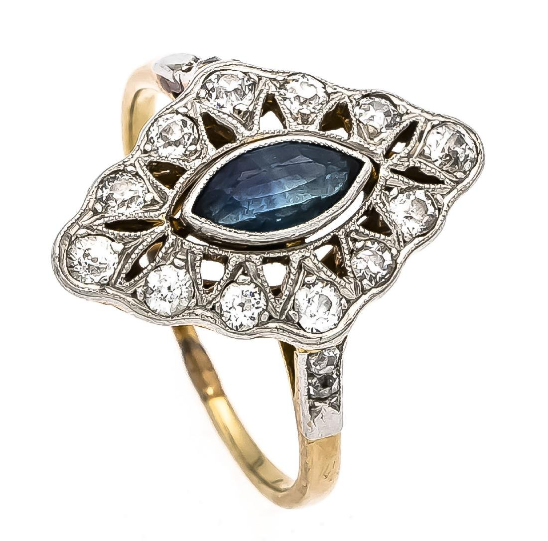 Saphir-Brillant-Ring