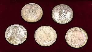 Satz Gedenkmünzen