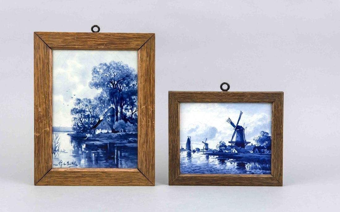 Zwei Bildplatten, De Porceleyne Fles, Delft, 20