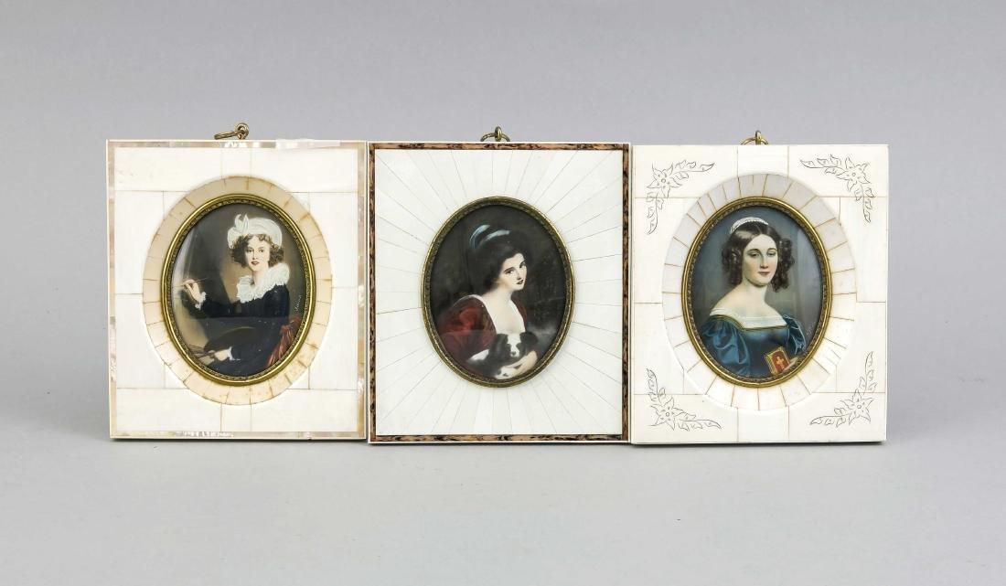 Konvolut von drei Miniaturen 20