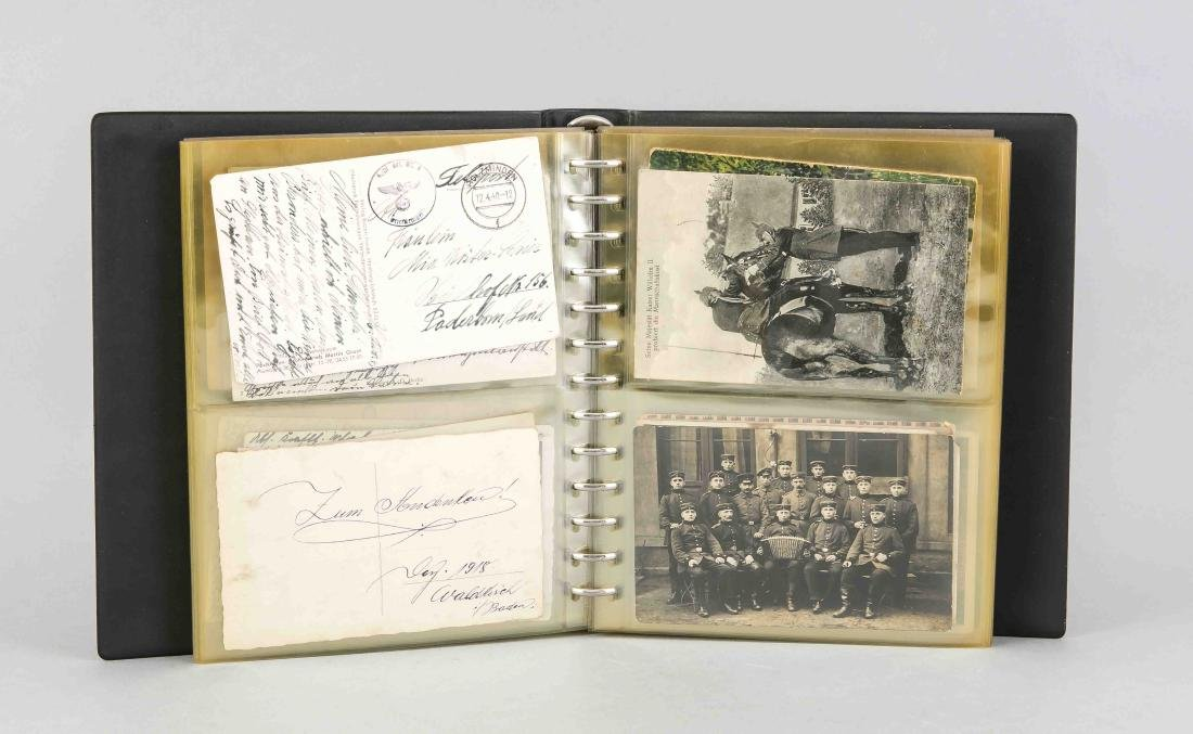 Album mit 77 Postkarten, 1