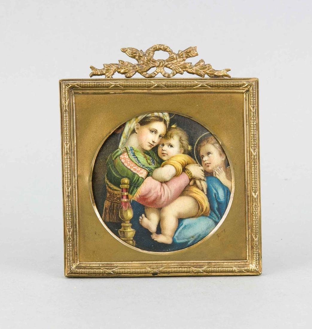 Miniatur, Madonna della Sedia nach Raffael, 1