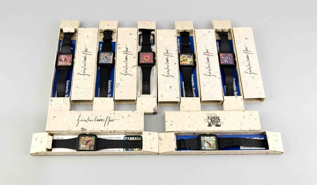 7 Armbanduhren aus der Hundertwasser Ed