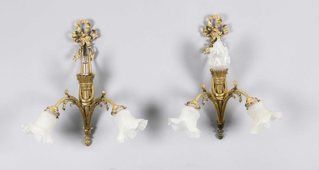 Paar Wandappliken im Louis-XVI-Stil, elektr