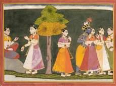 Indische Malerei, Basoli-Schule, Ende 19