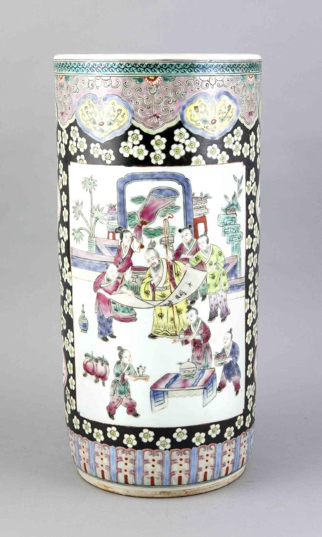 Famille-Rose Vase, China, späte Qing Dyn