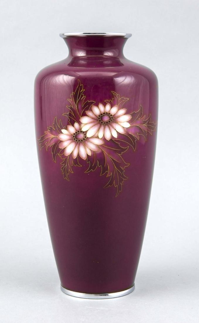 Cloisonné-Vase, Japan, 2
