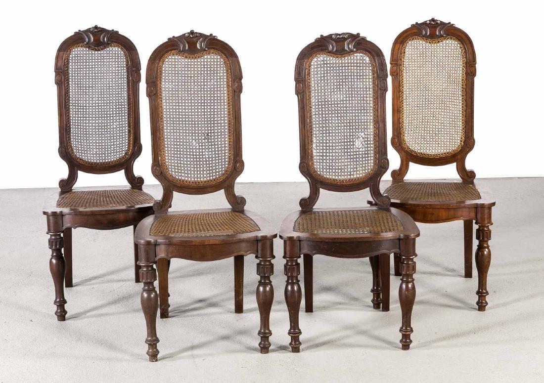 Satz von 4 Historismus-Stühlen