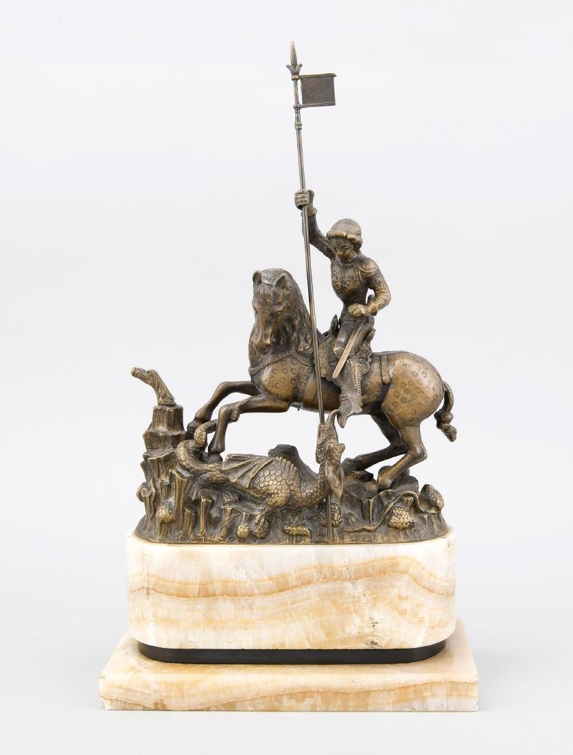 St. Georg als Drachentöter, nach der ungarischen Bronze