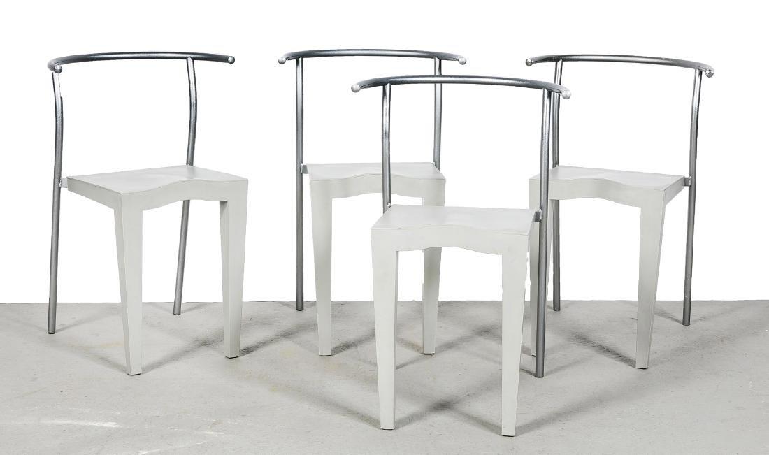 4er Satz Stühle, Aluminium und Kunstoff, Philipe Starck