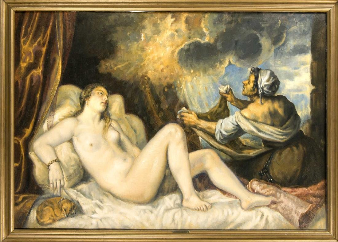 Titian (1488-1576), after ''Danaë receives the golden