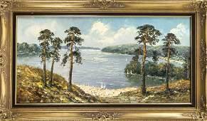 Bruno leaves 1870 Berlin landscape and genre