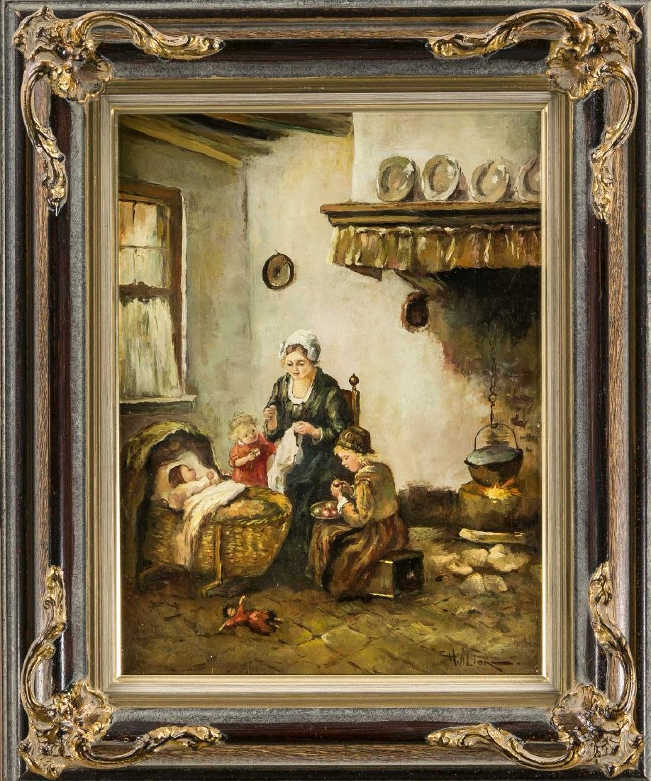 C. H. Wilton, genre painter in the mid 20th century,