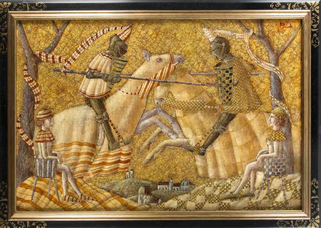 Vera Pavlova (* 1952), Russian painter, Medieval knight