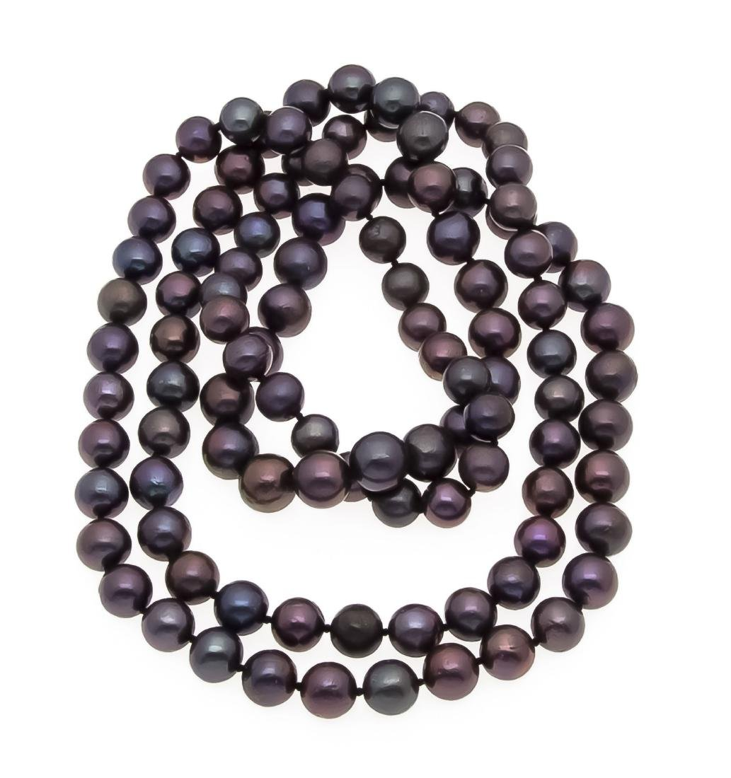 Tahitian pearl necklace, endless, with very good