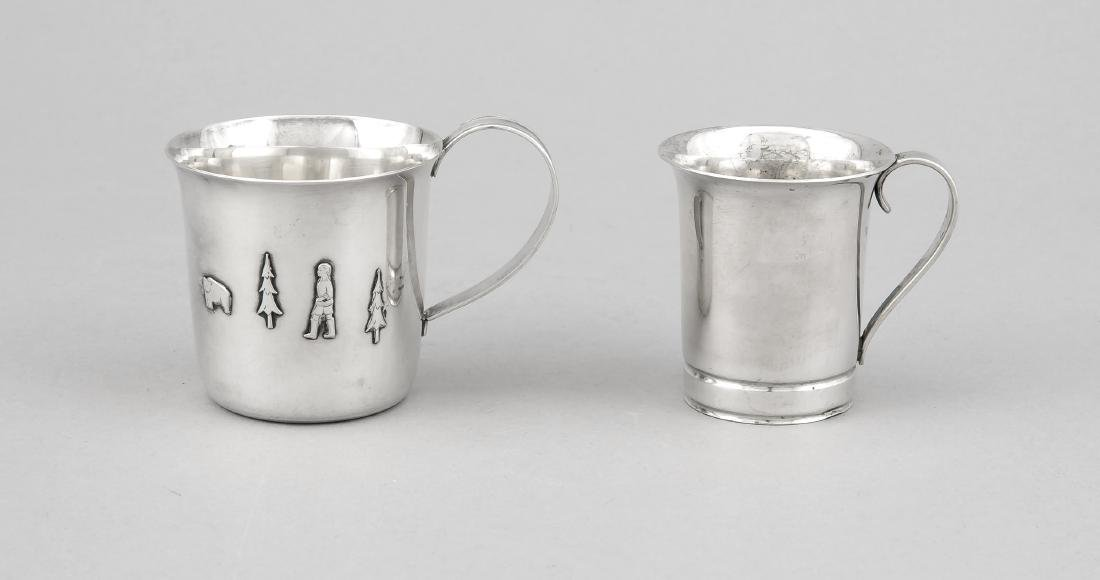 Two children's cups, Sweden, 1933 and 1964, silver