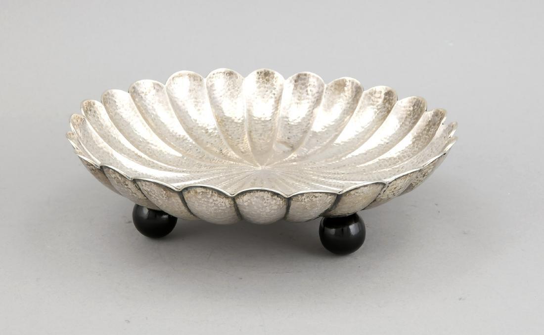 Round Art déco bowl, Poland, around 1930, hallmarked: