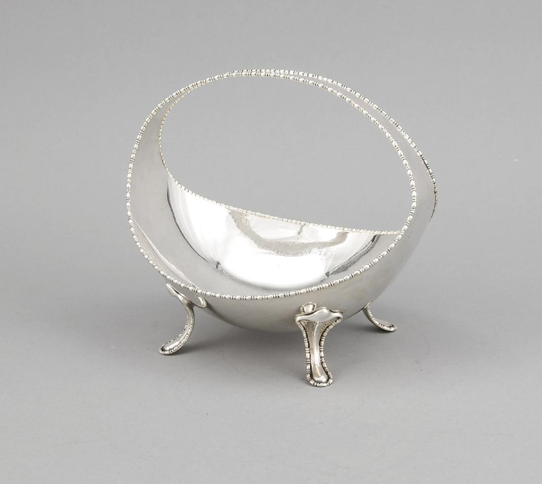 Oval bowl, England, 1911, hallmarked Atkin Brothers,